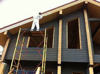 111 Покраска деревянного дома