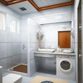 32 Легкость и практичность в маленькой ванной комнате