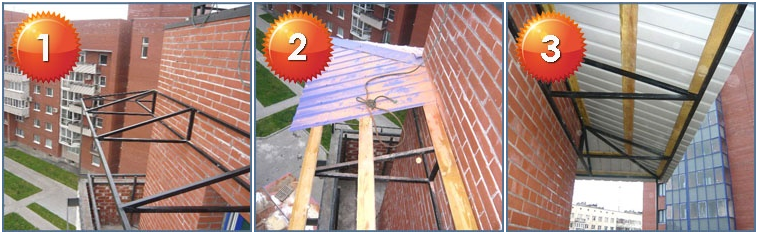 _2 Как сделать крышу для балкона