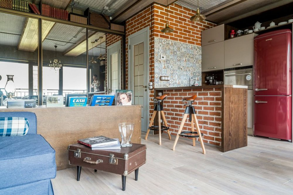 stil-loft-v-interere-malenkoj-kvartiry-studii20 Лофт — как современный стиль интерьера