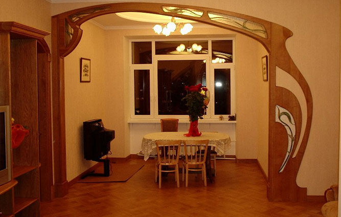 arki-na-kuchne19 Декоративная  арка в интерьере